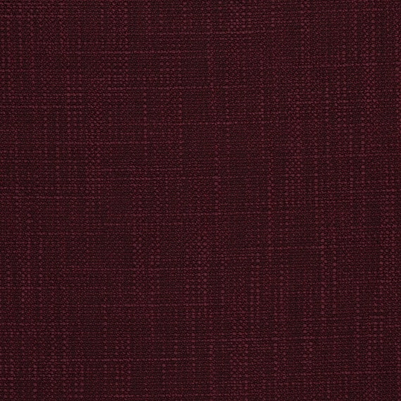 Burgundy Upholstery Fabric Woven Solid Color Fabric For Etsy