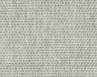 Silver Grey Upholstery Fabric for Furniture - Textured Woven Light Grey Fabric - Durable Furniture Fabric - Solid Silver Pillow Fabric