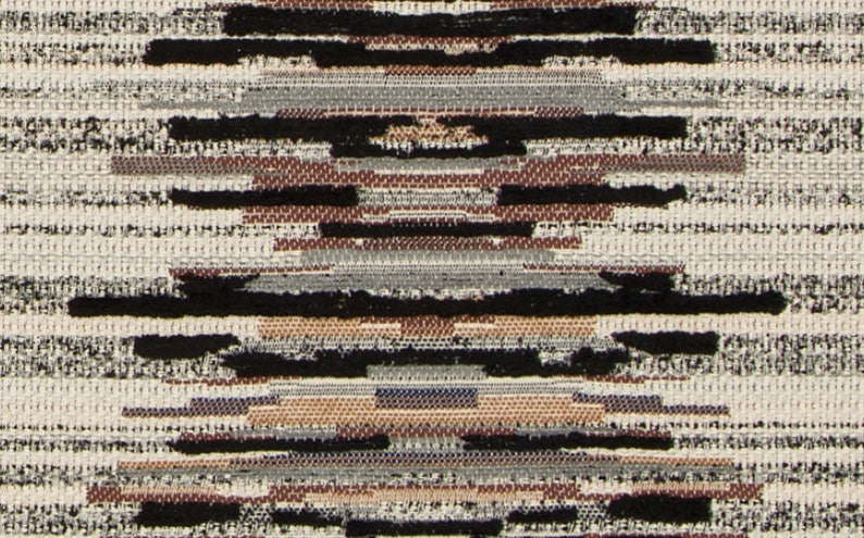 Black Woven Upholstery Fabric for Furniture Contemporary Black Upholstery Fabric Grey Black Textured Stripe Fabric Custom Pillows