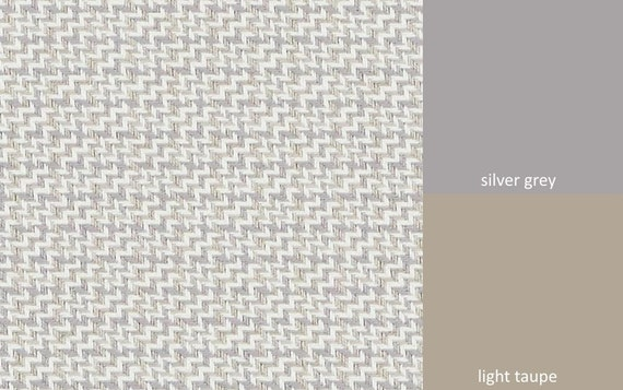 Silver Grey Tweed Upholstery Fabric Taupe Grey White Pillow Etsy
