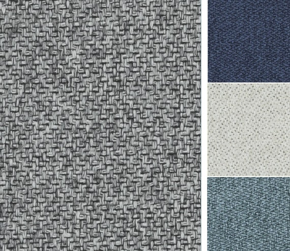 Grey Tweed Upholstery Fabric 6 Colors Available Custom Etsy