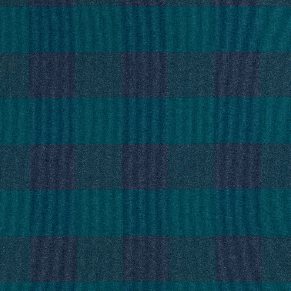 Teal Navy Blue Upholstery Fabric Modern Dark Turquoise Plaid Etsy