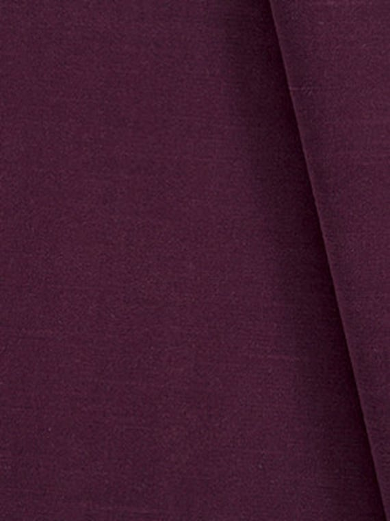 Dark Purple Velvet Upholstery Fabric By The Yard Solid Color Etsy
