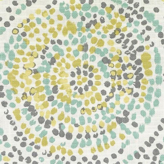 Yellow Grey Upholstery Fabric Modern Light Green Splatter Etsy
