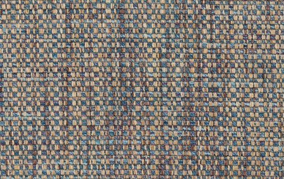 Taupe Blue Tweed Upholstery Fabric Light Blue Woven Textured Etsy