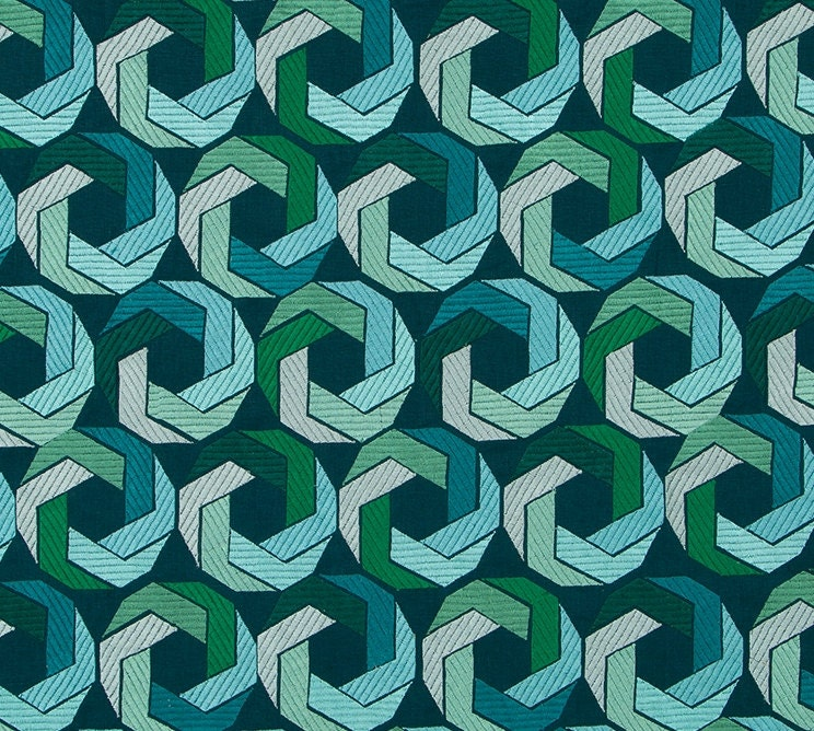 Teal Teal Teal Turquoise Upholstery Fabric - Modern Blue Green Geometric Fabric for Furniture - Contemporary Dark Blue Emerald Green Custom Pillows fdf299