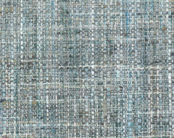 Blue Grey Woven Upholstery Fabric - Durable Tweed Fabric for Furniture - Grey Blue Small Scale Fabric for Couches Chairs
