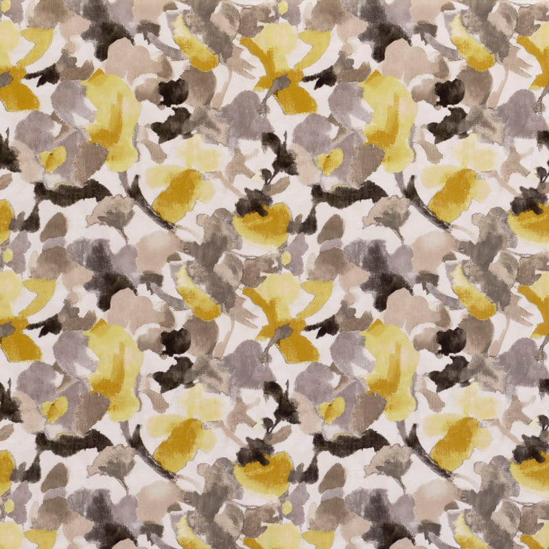 Mustard Yellow And Charcoal Grey Floral Velvet Upholstery Etsy