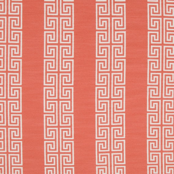 Coral Upholstery Fabric Geometric Dining Room Chair Fabric Etsy