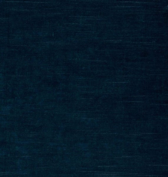 Navy Blue Velvet Upholstery Fabric By The Yard Custom Navy Etsy