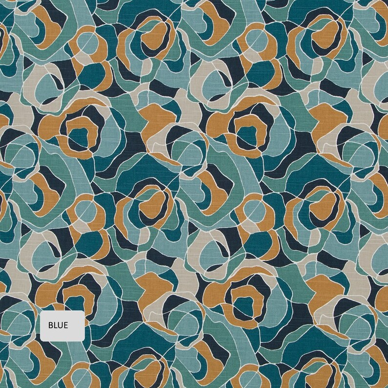 Modern Gold Curtains 3 Colors Available Abstract Peacock Blue Curtains Blue Gold Upholstery Fabric Teal Gold Pillow Covers