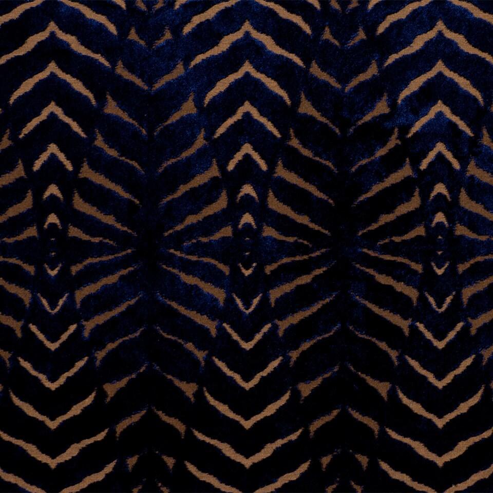on sale blue cut velvet upholstery fabric modern animal. Black Bedroom Furniture Sets. Home Design Ideas