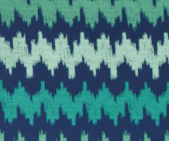 Mint Green Navy Blue Abstract Upholstery Fabric Teal Woven Etsy