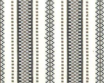 Charcoal Grey Stripe Upholstery Fabric - Modern Grey White Stripe Fabric for Pillows and Benches - Contemporary Stripe Fabric