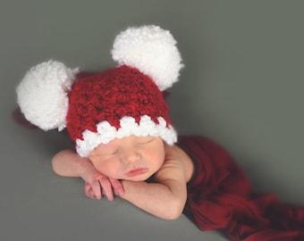 Christmas Hat All Sizes Santa Hat Baby Hat Baby Girl Hat Baby Boy Hat  Toddler Girl Toddler Boy Toddler Hat Pom Pom Hat Photo Prop Red White 6489f93b1611