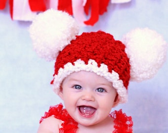 All Sizes Christmas Baby Hat Baby Santa Hat Baby Girl Hat Baby Boy Hat Pom  Pom Hat Christmas Photo Prop Red White Santa Baby Hat Holiday Hat 22619fd81ed