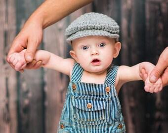 Newborn Baby Boy Hat Gray Baby Hat Irish Donegal Cap Irish Hat Flat Cap Driving Cap Baby Donegal Hat Newborn Photo Prop Baby Newsboy Hat