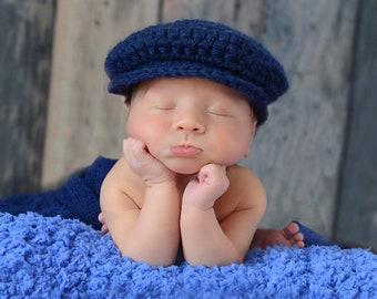 0ead2ef3283 16 Colors Baby Toddler Boy Men s Irish Wool Newsboy Golf Hat Dapper Flat Cap  Newborn Photo Shoot Photography Prop Gifts for Him Navy Blue