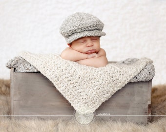 691c382673d 16 colors newsboy hat newborn baby toddler boy men golf flat cap Irish wool  gifts for him baby shower gift ideas photo prop photography prop.  TSBPhotoProps ...