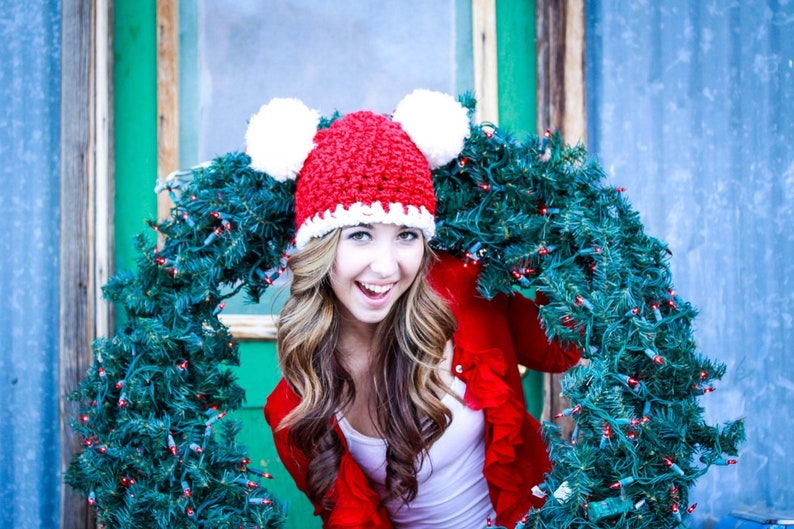 eb4dae48d2653 Christmas Santa Hat All Sizes Womens Ladies Newborn Baby