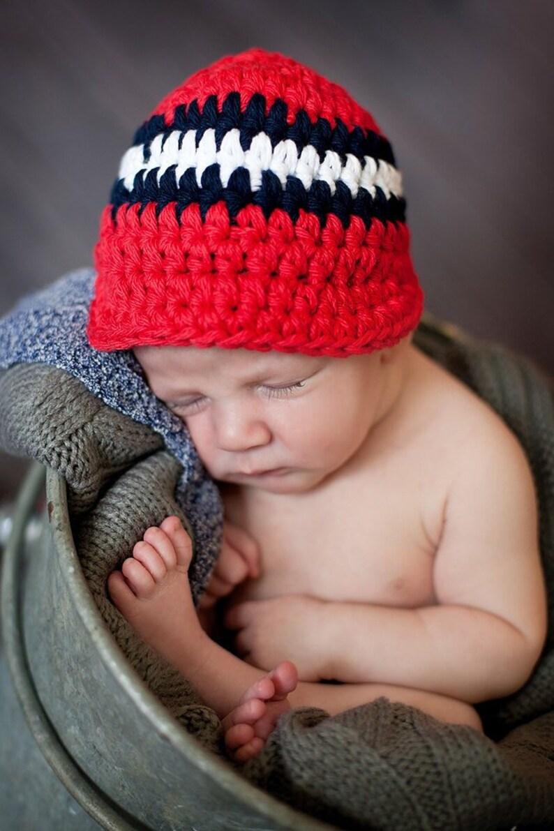f3a422ccf85 Baby Boy Hat Newborn Babies Toddlers Boys Men Red Navy Blue