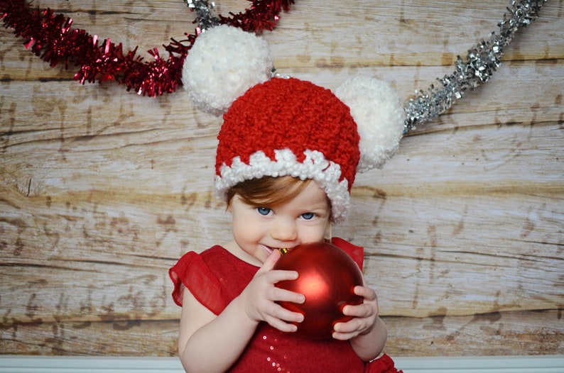 6064e86ea48 All Sizes Christmas Baby Santa Hat Baby Hat Toddler Girl
