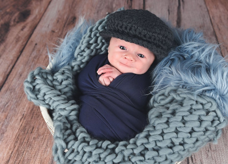 7acf93ce493049 Newborn baby boy hat 16 colors graphite gray winter baby hat | Etsy