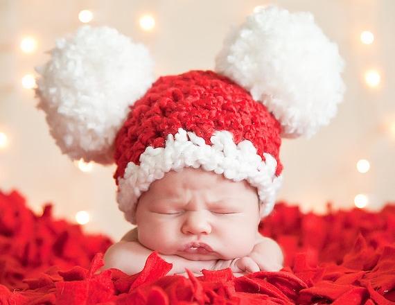 Christmas Santa Hat All Sizes Newborn Baby Toddler Girl Boy Etsy