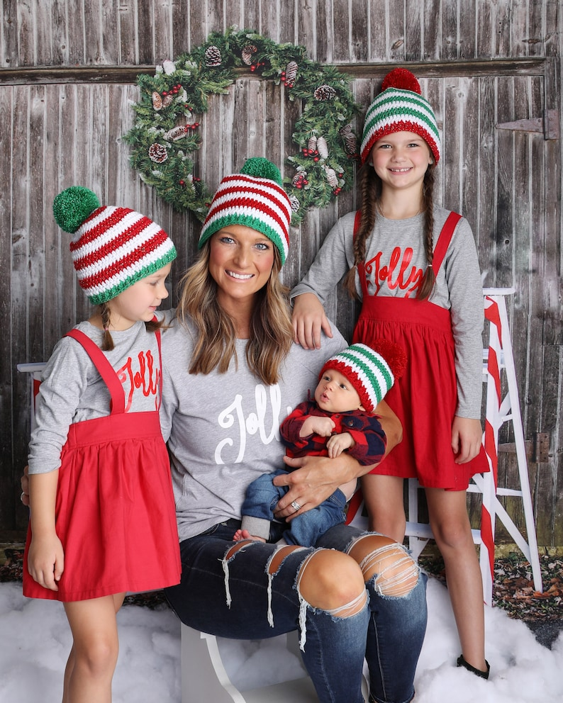 All sizes Christmas hat red green white giant pom hat newborn image 0