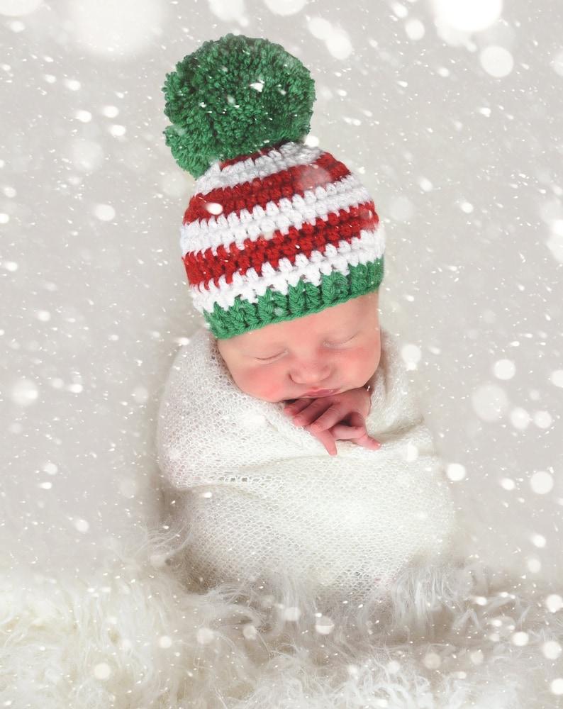 All sizes Christmas beanie red green white giant pom pom hat  dfc27c7cfc1
