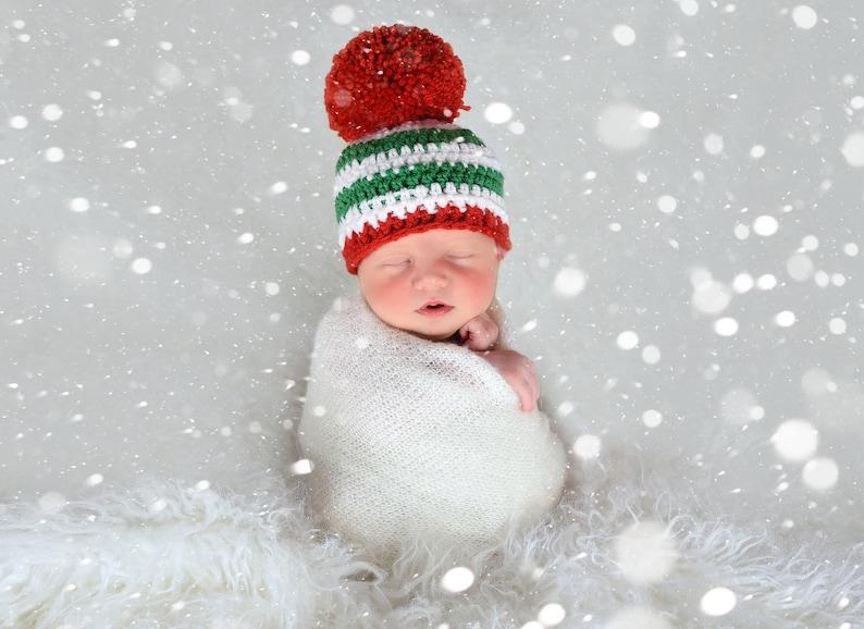c00e3ecfed2e7 All sizes Christmas hat giant pom pom beanie baby boy toddler