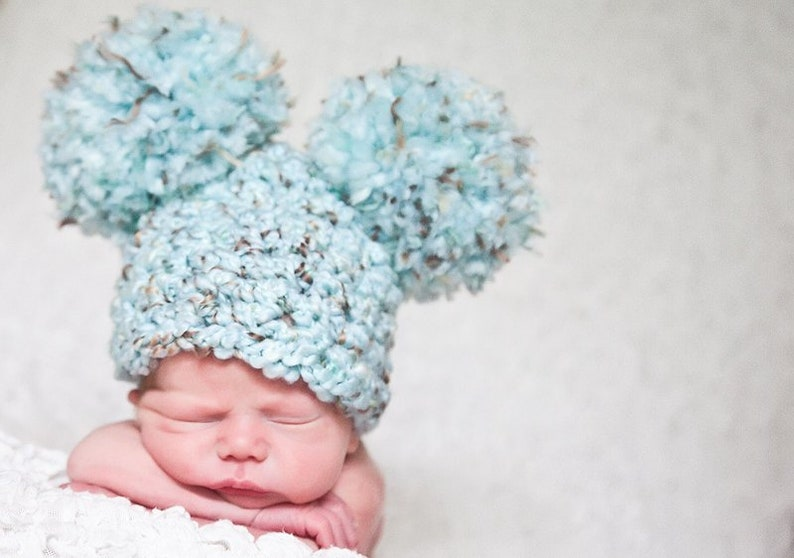 16 Colors Baby Boy Girl Women s Giant Pom Pom Chunky  de244f98c770