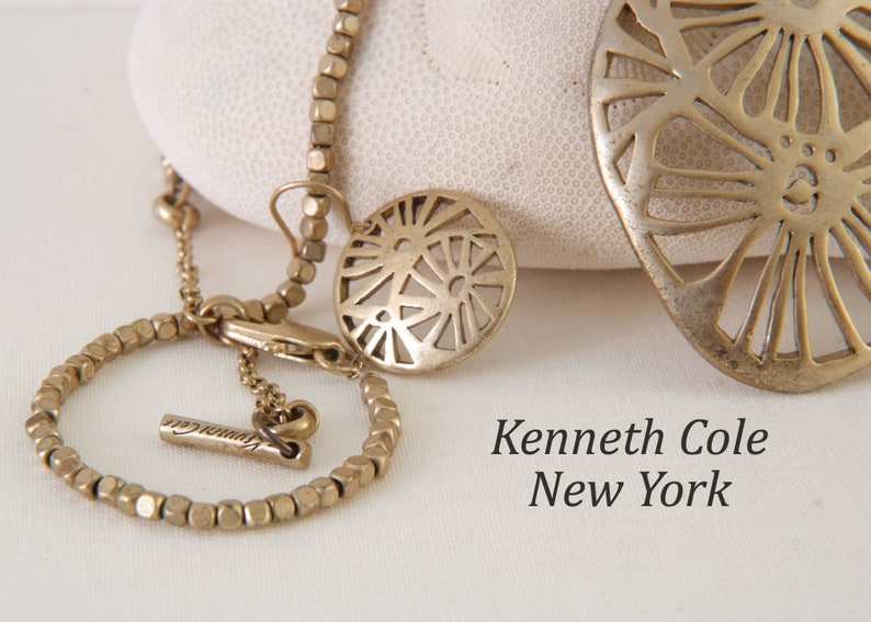 Vintage Retro Kenneth Cole New York Abstract Pendant Necklace Earrings