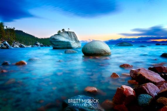Lake Tahoe Bonsai Rock Photography Print 12x18 16x24 20x30 Etsy