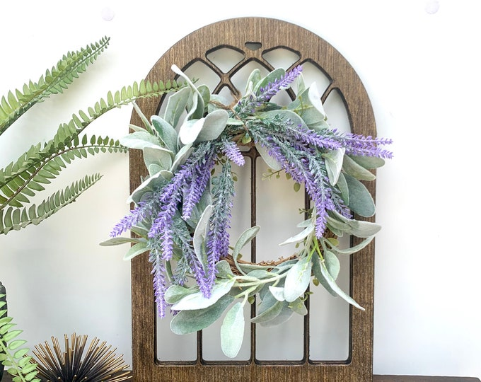 Cathedral Window Frame, Wall Hanging, Wood Window Frame, Wreath Hanger, Wreath not included