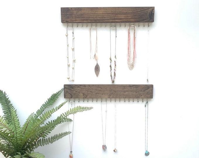 Double Necklace Organizer | Necklace Hanger | Necklace Rack | Necklace Holder | Display