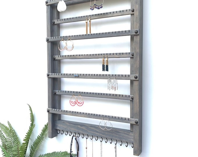 Organizer for Extra Long Earrings | Large Jewelry Organizer | Earring Hanger | Earring Rack | Earring Holder | Earring Display I Necklace Ho