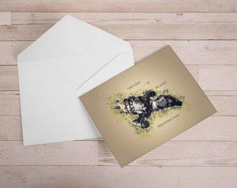 Firefly Greeting Card   Leaf on the wind Card   Geek Card   Serenity Card