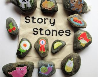 Farm story stones, story building, imagination builder, teacher gift
