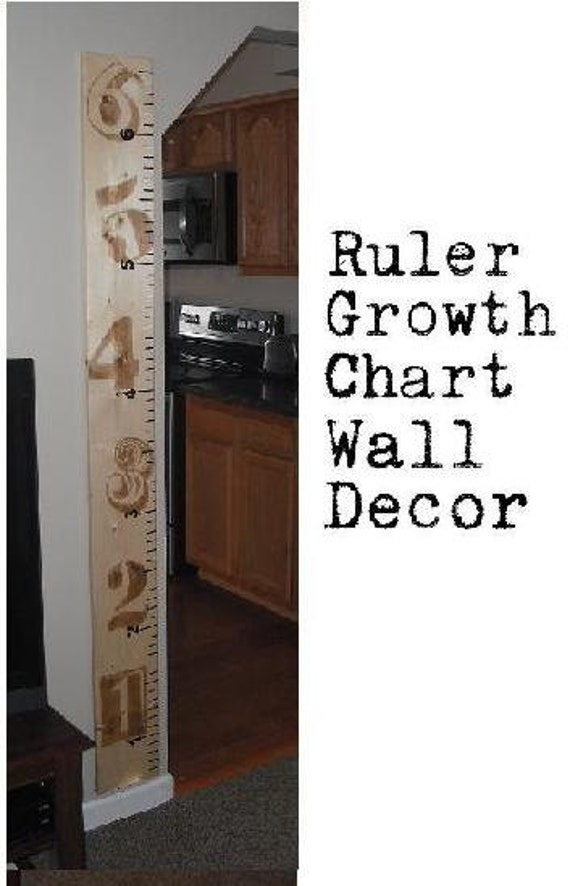 Wooden Ruler Growth Chart 8 Inch Wide Etsy