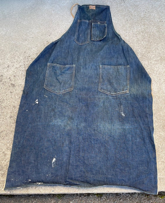 Vintage Hercules denim craftsman work wear apron 1