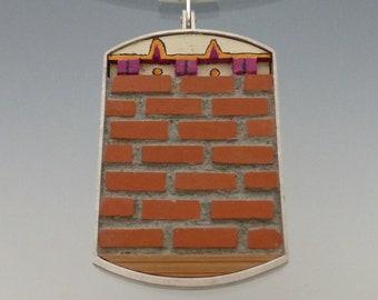 Concrete and terracotta brick Pendant.