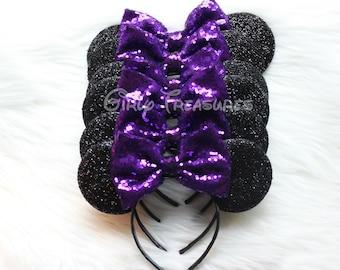 Bachelorette Party Mouse Headband. PURPLE Mouse Headband. Womens Headband. Bachelorette Mouse Ears Headband. Disney Ears. One Size Fits Most