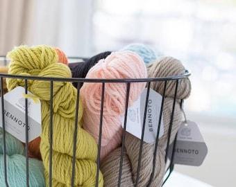 Bennoto - Heavy Worsted Merino Wool / Alpaca Yarn by Cloud9 Fibers - CITRUS ZEST