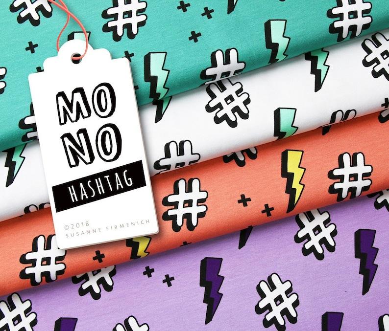 Hashtag Coral MONO by Hamburger Liebe Jersey