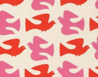On the Fly Orange - Holding Pattern by Jessica Jones for Cloud9 Fabrics BARKCLOTH (5208.52.00.90)