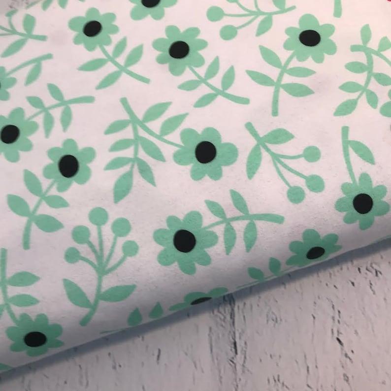 Jersey MONO by Hamburger Liebe Flower WhiteMint
