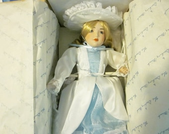 Danbury Mint Dolls, Little Bo Peep Doll, Vintage Porcelain Dolls, Storybook Dolls, Collectible Dolls