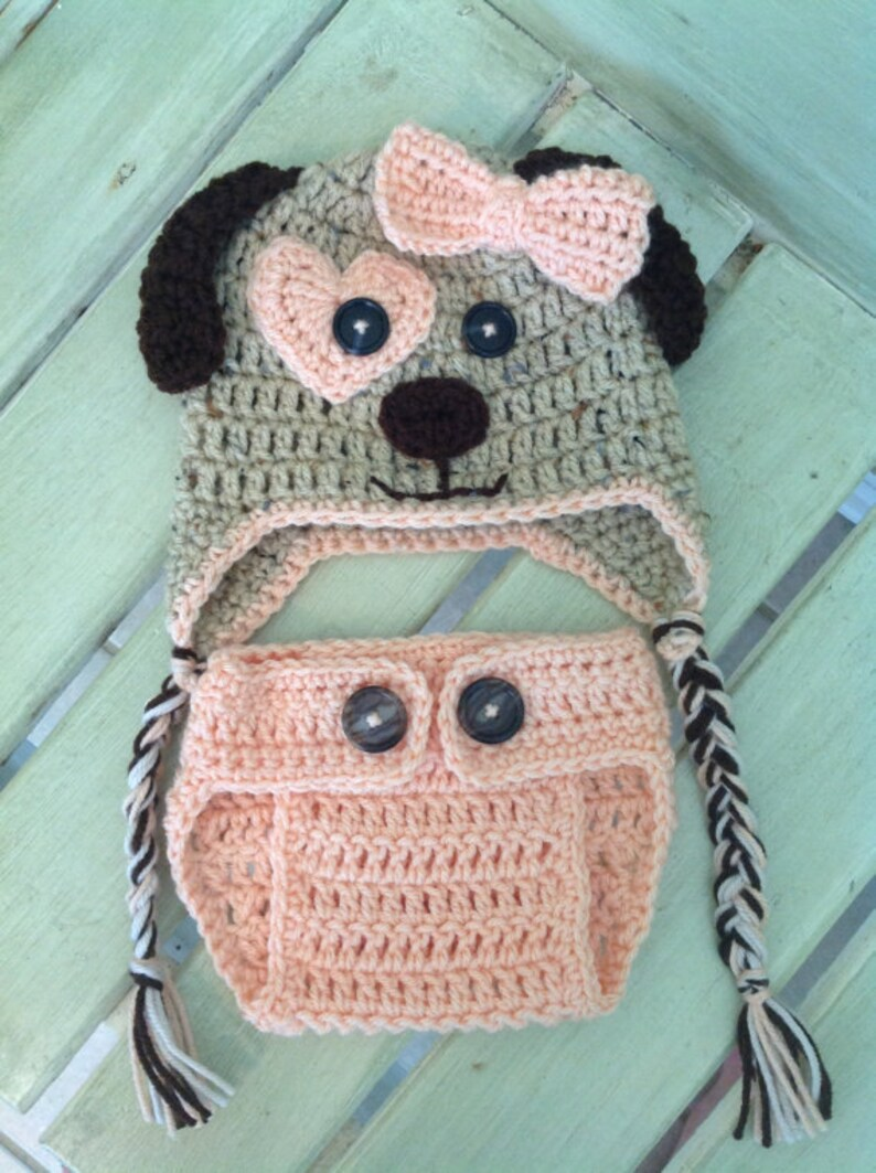 430e5dc485a Puppy dog hat and diaper cover pattern only crochet hat and etsy jpg  794x1063 Crochet dog