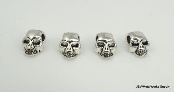 9x Silver Skeleton Skull Charms Pendants for DIY Necklace Bracelet Jewelry